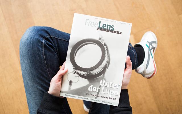 Fotoredaktionen unter die Lupe genommen. Den Titel fotografierte Bernd Euler.