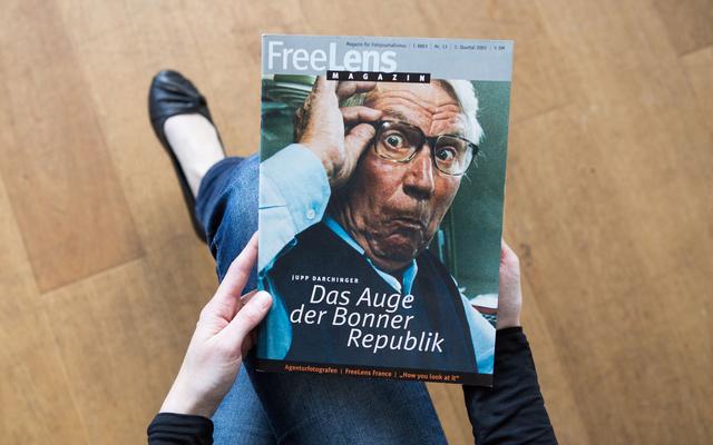 Ein Heft rund um Foto- und Nachrichtenagenturen. Kirsten Haarmann porträtierte Jupp Darchinger für den Titel.