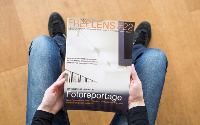 Fotoreportage – der Umbruch eines Genres als Titelthema dieses Heftes. Das Titelfoto stammt von Axel Martens.
