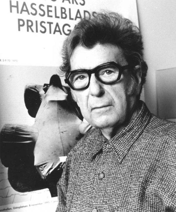 Robert Häusser bei der Verleihung des Hasselblad-Preises, 1995.