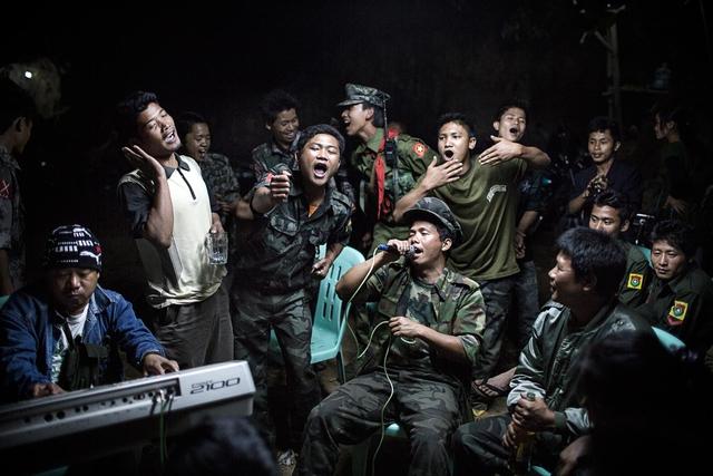 Beerdigungsfeier burmesischer Unabhängigkeitskämpfer.