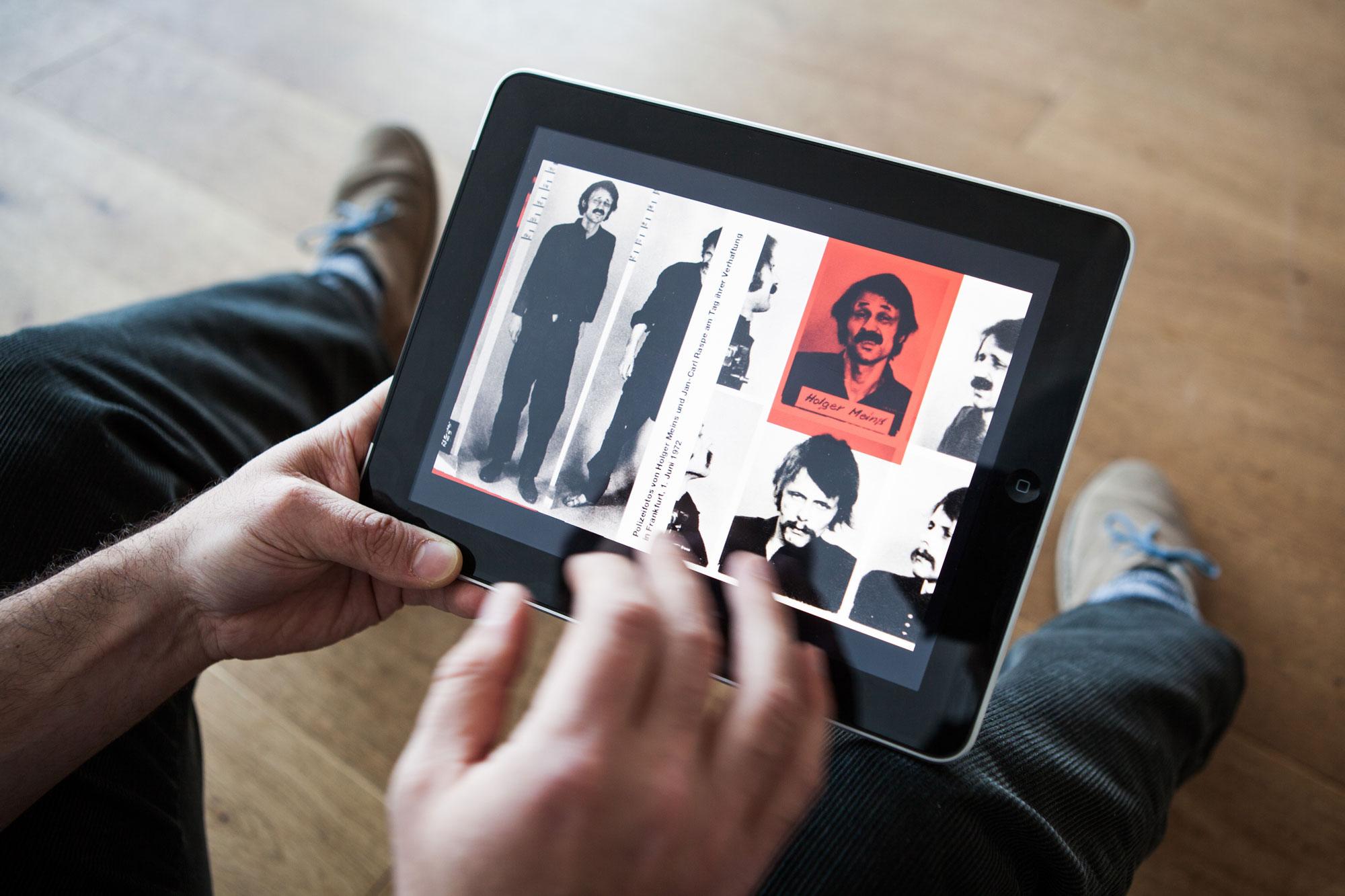 »Hans und Grete. Die Geschichte der RAF« erschien 1998 als Fotobuch bei Steidl und ist heute vergriffen. Vorteil der App: Sie macht ein gesuchtes und hoch gehandeltes Buch weiterhin verfügbar.