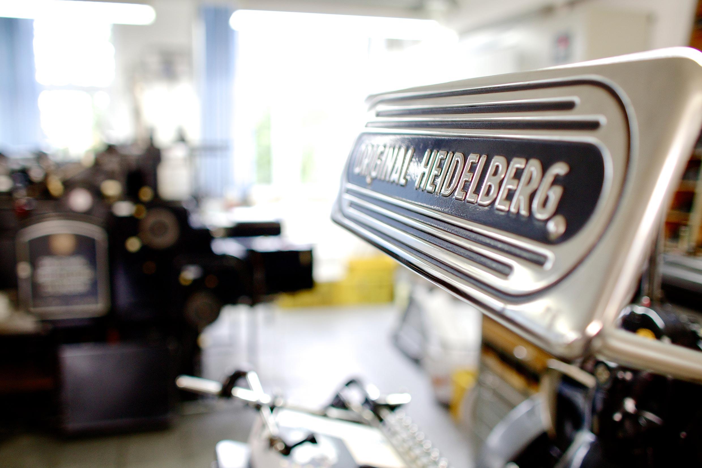 Museumsmaschine: Der Heidelberger Zylinder kommt nur noch selten zum Einsatz.