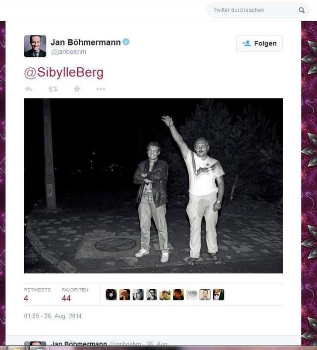 Böhmermann-Tweet vom 26.8.2014 (Ausschnitt)