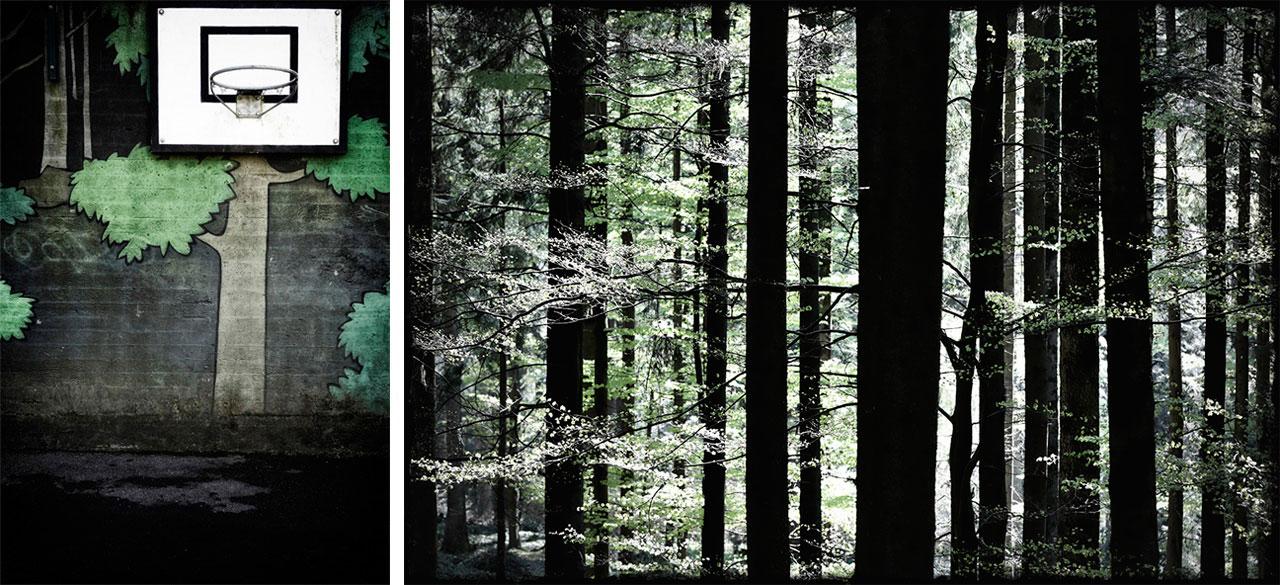 »Oberer Graben« (links) und »Weiher Holz« (rechts).