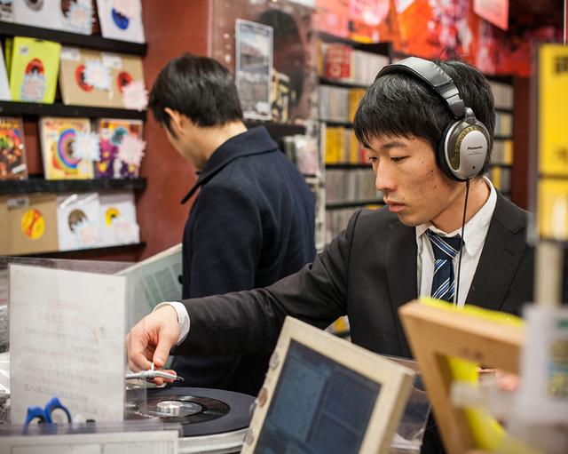 »Shinjuku Disk Union Club Music Shop«, Tokio.
