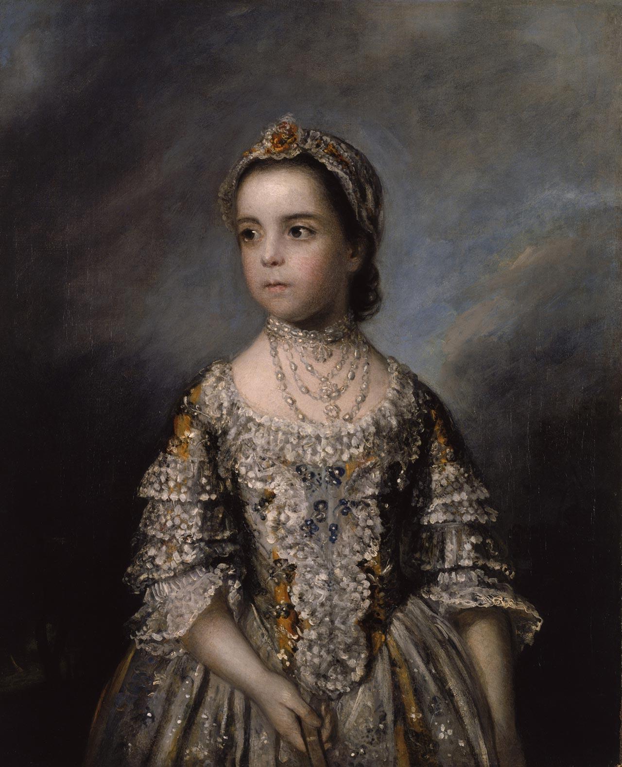 Joshua Reynolds »Porträt von Rebecca Watson, 1758«. Arp Museum Bahnhof Rolandseck/Sammlung Rau für UNICEF.