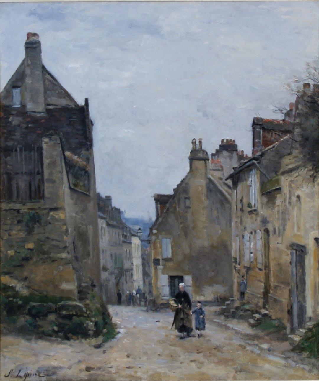 »Die Rue du Mont-Cenis auf dem Montmartre« von Stanislas Lepine. Arp Museum Bahnhof Rolandseck/Sammlung Rau für UNICEF.