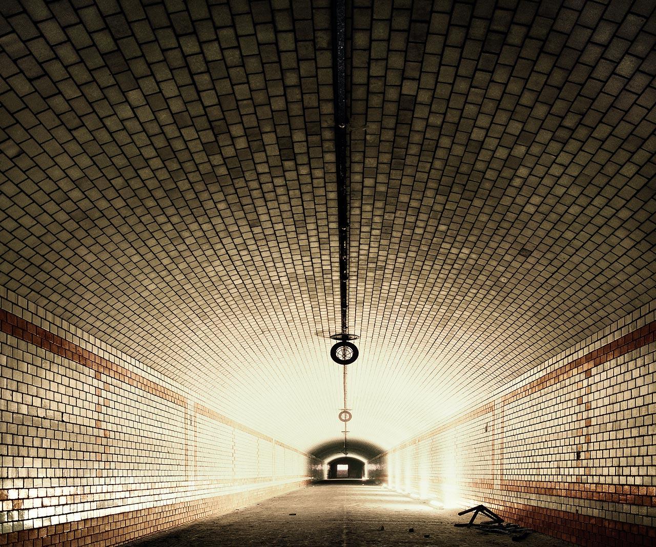 Aus dem Fotozyklus »Stettiner Tunnel«.