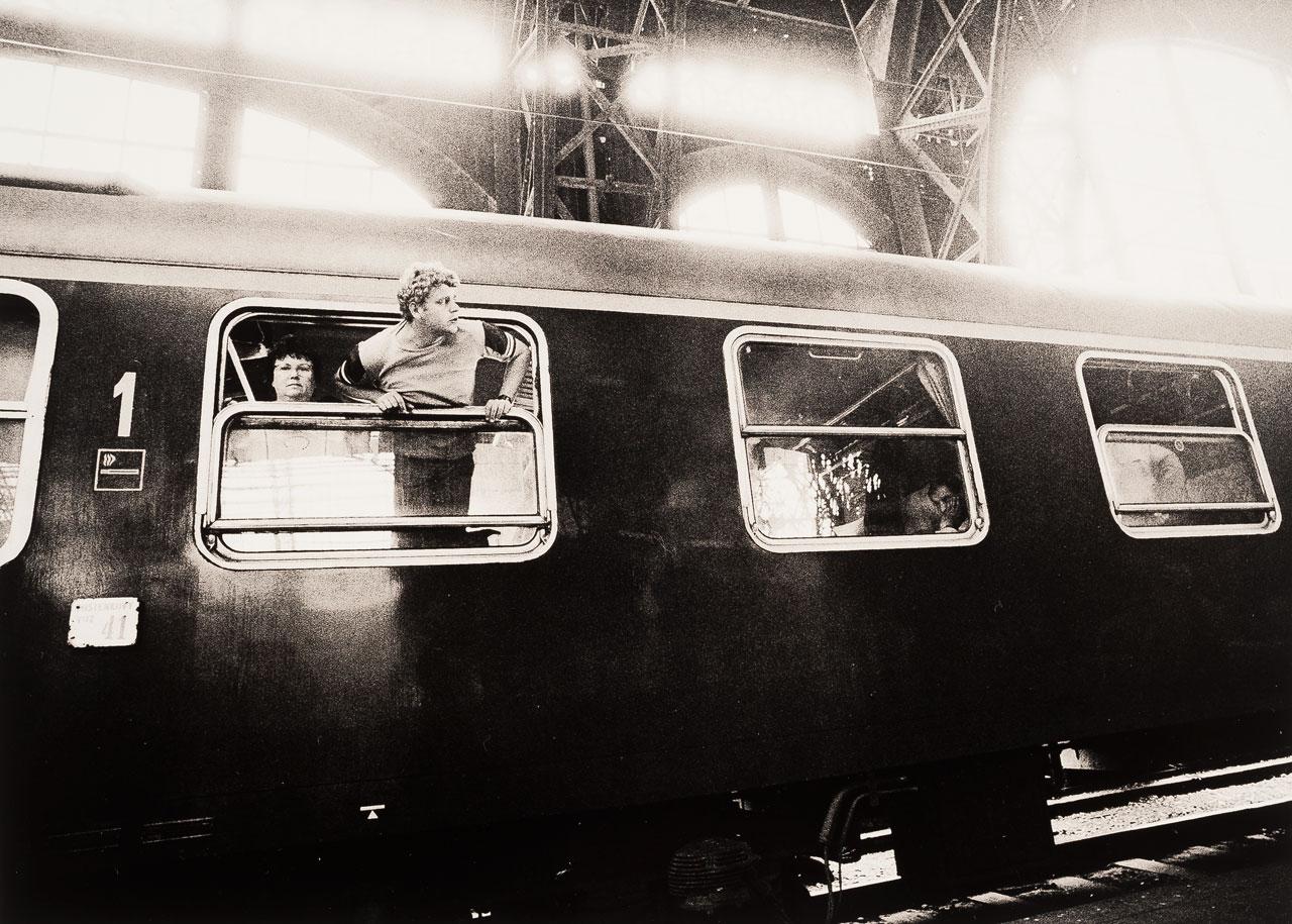 Hauptbahnhof Dresden, Mai 1990.
