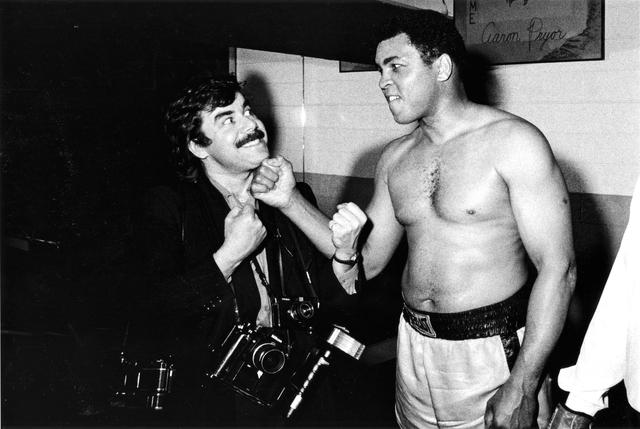 Volker Hinz mit Muhammad Ali, Santa Monica 1984.