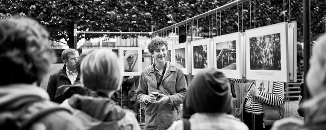 Fotografengespräch mit Casper Hedberg während des 4. Lumix Festivals 2014 in den Gärten des Wandels.