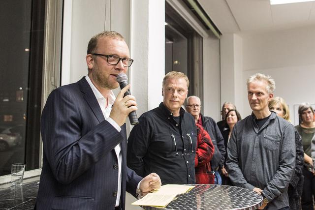 Ulrich Rüter mit Siegfried Hansen und Peter Lindhorst.