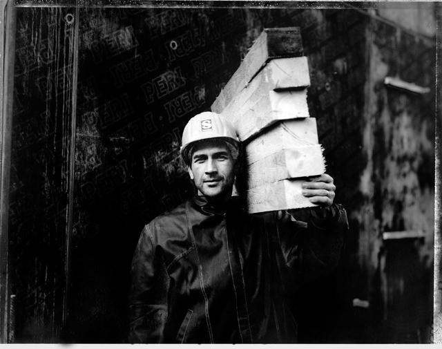 Bauarbeiter in Berlin-Mitte, 1995.
