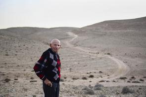 Avraham Leibowitz überlebte mehrere Todeslager. Yeruham, Israel.