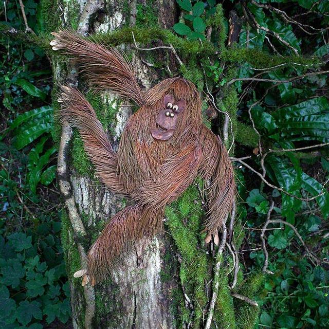 Orang Utan aus dem Buch »Was macht das Blättertier denn hier?«
