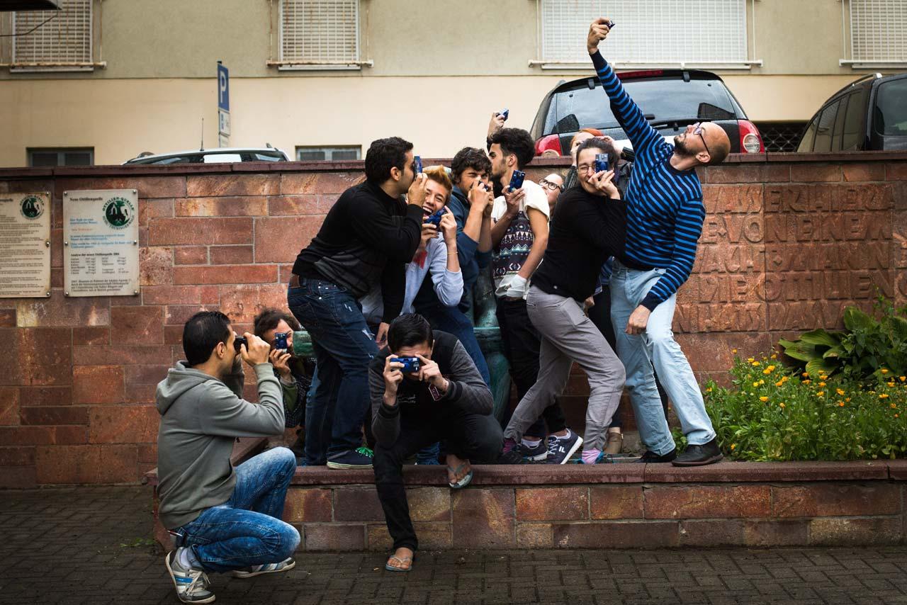 Gruppenfoto während des Fotoworkshops »Meine (neue) Welt«. Foto: Meine (neue) Welt