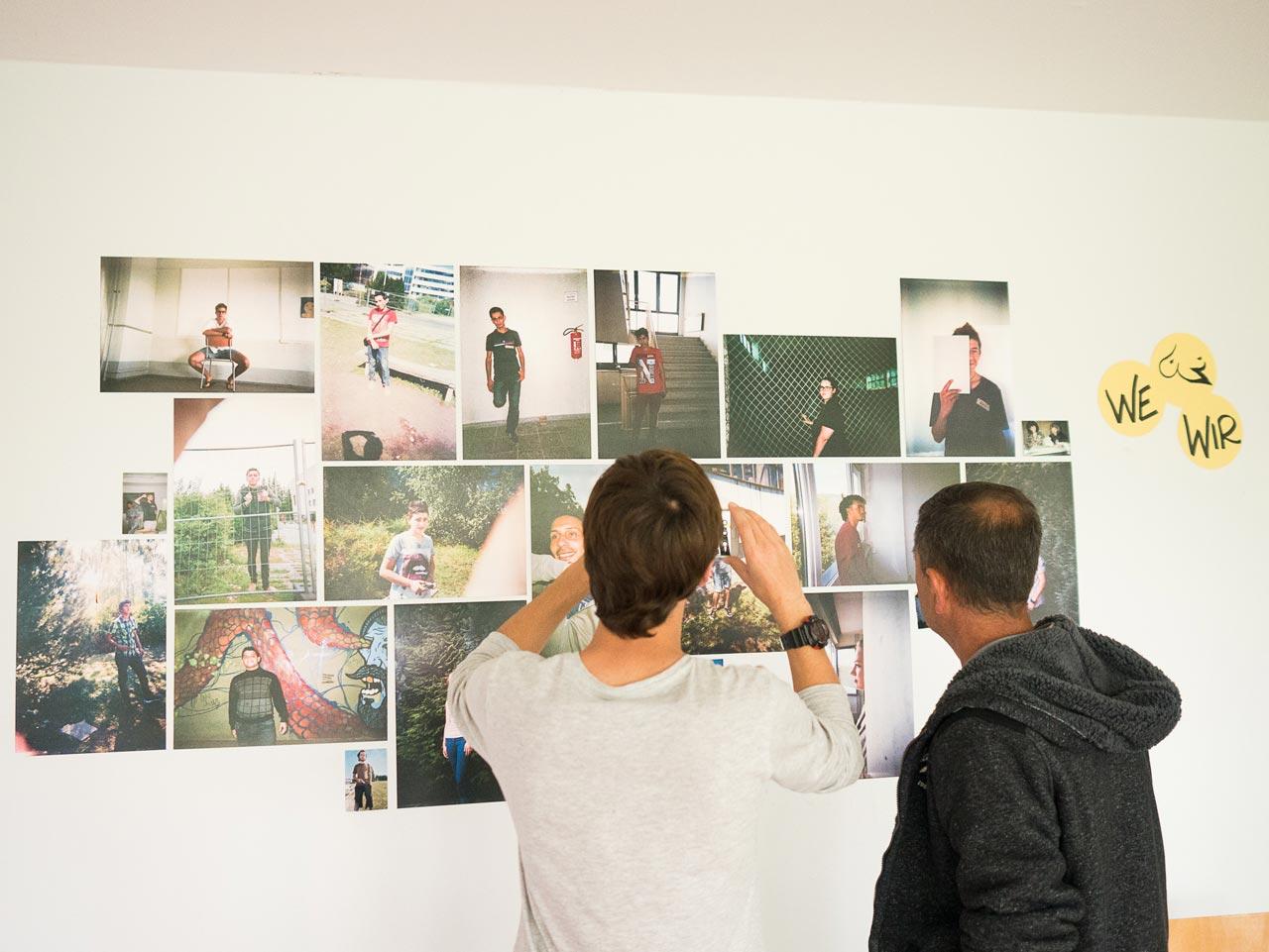 Die Ergebnisse des Workshops werden in einer Ausstellung in der Erstanlaufstelle in Suhl gezeigt. Foto: Meine (neue) Welt