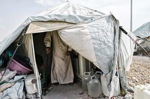 In den Zelten des Flüchtlingslagers Kuschtapa in der Nähe von Erbil im Irak leben bis zu zwölf Personen. Es gibt keinerlei Privatsphäre, oft gibt es Streit.