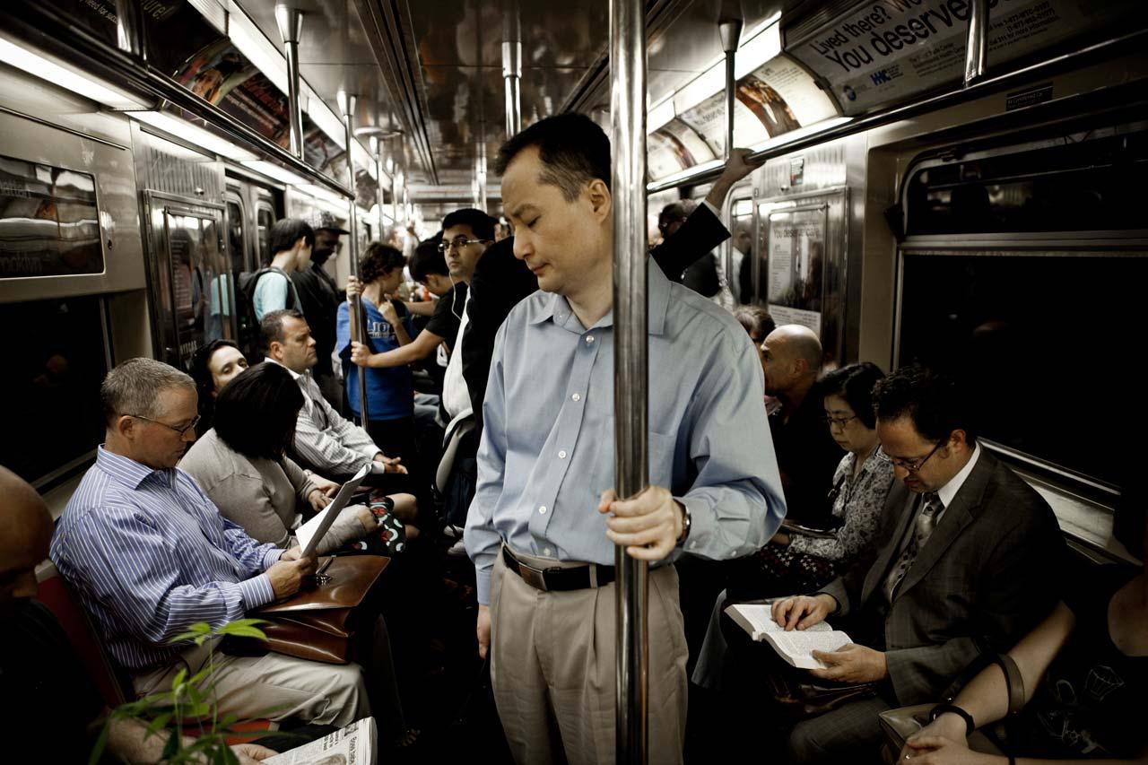 Unterwegs in Richtung Queens während der Rushhour am Nachmittag. Foto: Julius Schrank