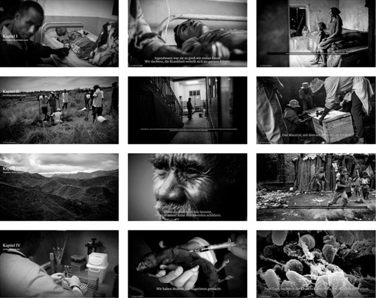 Aus der Multimedia-Arbeit »Schwarzer Tod«.
