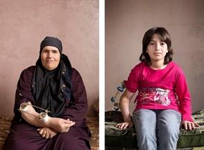 Raya Mohamad, 63 (links) und Iman, 11 (rechts) aus der Serie »40 out of 1 million«.