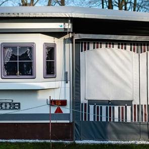 Winteridylle auf dem Campingplatz, Plauer See 2015.