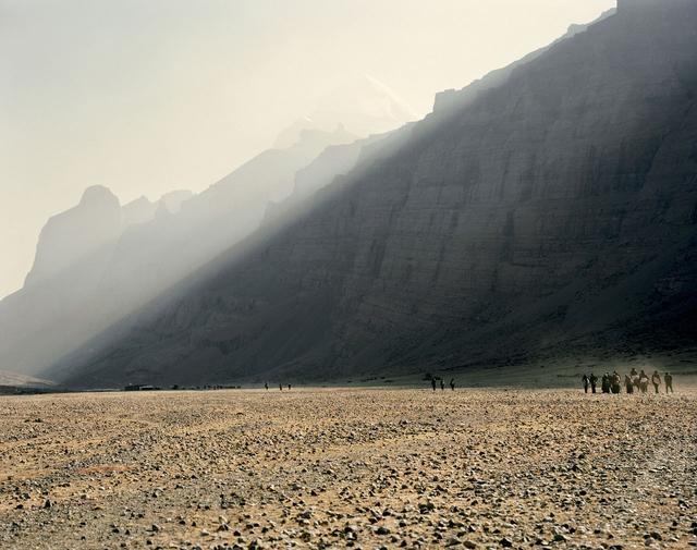 Pilger im Lha Chu Tal (4710 Meter).