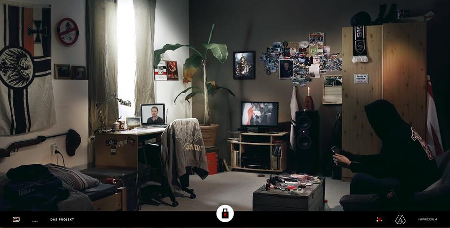 Das Nazizimmer. Screenshot der Website »Kein Raum für Rechts«.