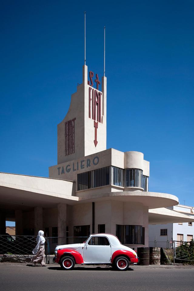 Fiat Tagliero Service Station. Architekt: Giuseppe Pettazzi, gebaut 1938.