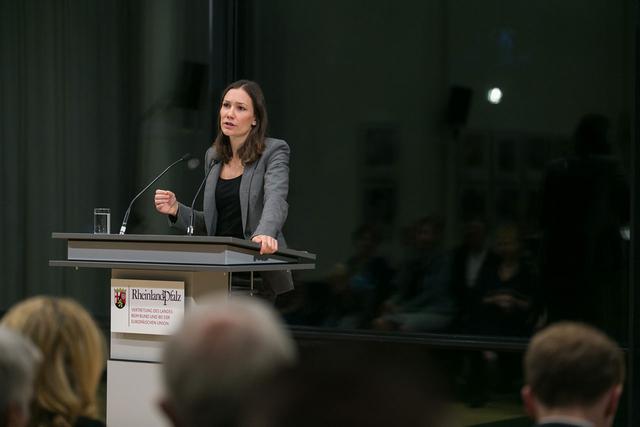 Anne Spiegel, Ministerin für Familie, Frauen, Jugend, Integration und Verbraucherschutz in Rheinland-Pfalz.