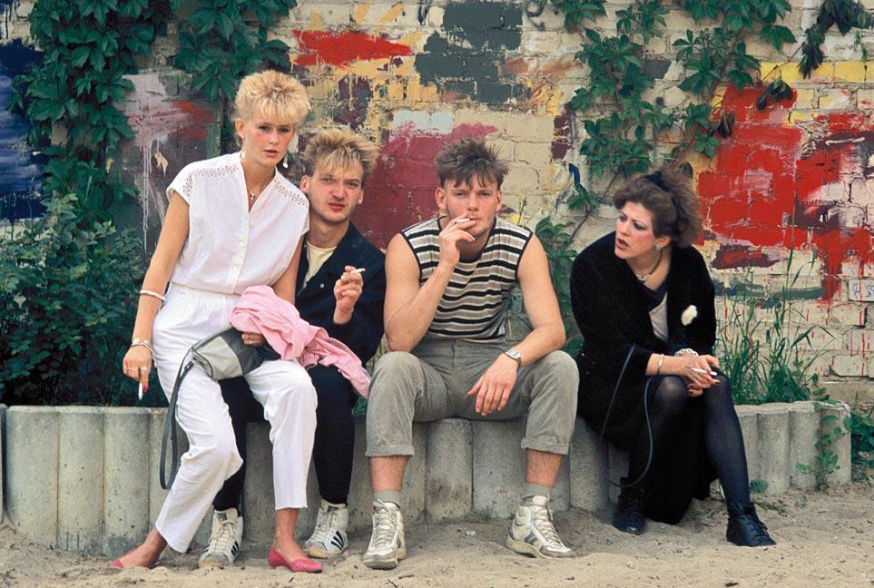 Fest im Hirschhof, Prenzlauer Berg, Berlin, 1986.