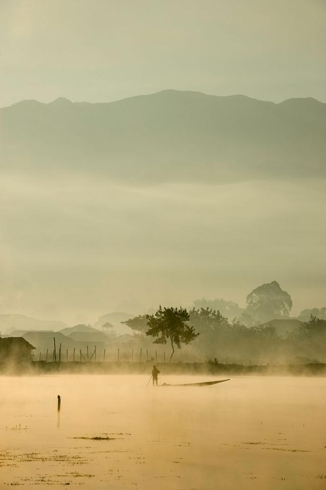 Bild 10: Fischer auf dem Wasser, Shan-Region, Myanmar.