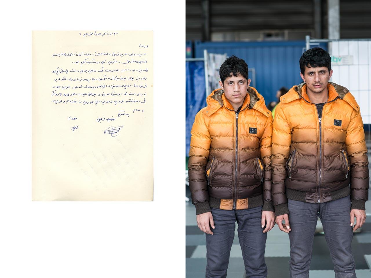 Die Brüder Tahsel (17) und Efhamullah Sedequi (18) sind aus Laghman, Afghanistan geflohen.