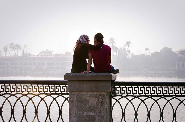 Turteltauben am Nil, Kairo.