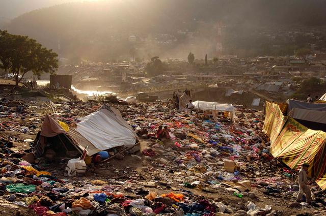 Die durch ein Erdbeben zerstörte Stadt Balakot, Pakistan.