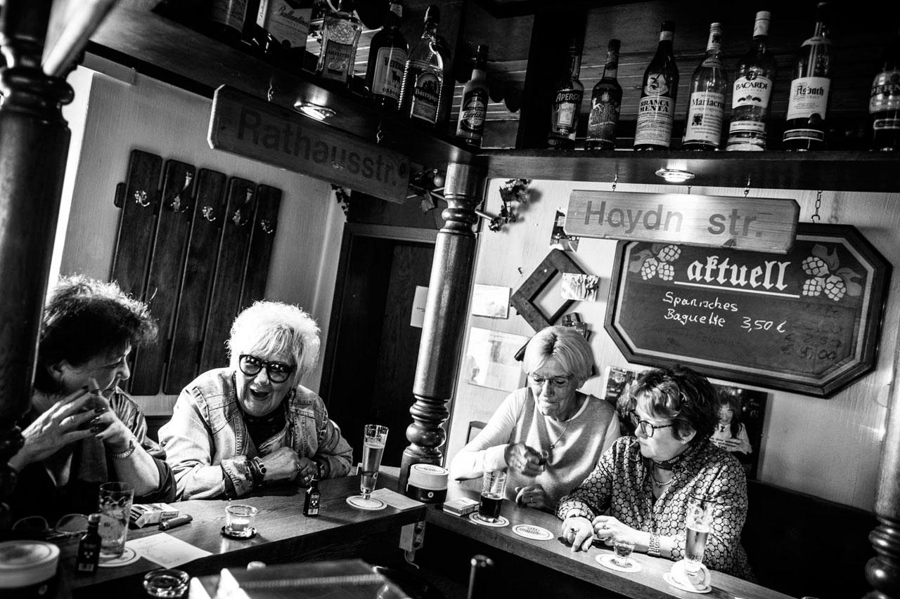 Die »Saufziegen« in Molly's Pinte. Wanne-Eickel, 1. Oktober 2016. Foto: Andy Spyra