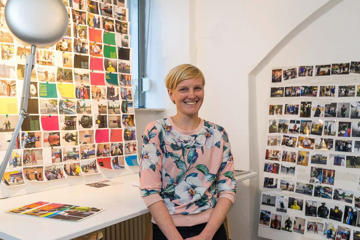 Verena Brandt in ihrem Büro in Berlin-Kreuzberg.